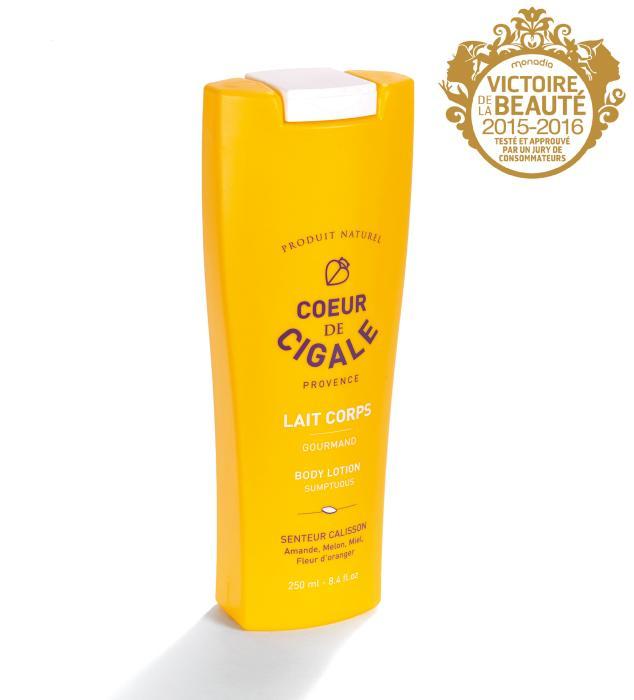 Giflor crowns award winning Coeur de Cigale body milk